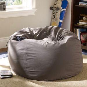 Pottery Barn Teen Charcoal Gray Bean Bag Cover PBT